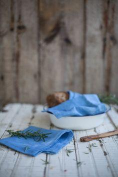 hand dyed indigo linen napkins