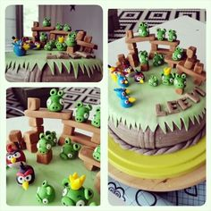 Birthdaycake Angry  birds,  cake , birthdaycake,  sugarfondant