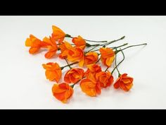 Poppy Learn to make an orange poppy flower from paper on this paper flower from Crafting Hours. Making an beautiful Himalayan flower from crepe paper is actually thrilling DIY Hanging Paper Flowers, Paper Flowers Craft, Crepe Paper Flowers, Paper Roses, Flower Crafts, Diy Flowers, Flower Paper, Paper Flower Patterns, Paper Flower Tutorial