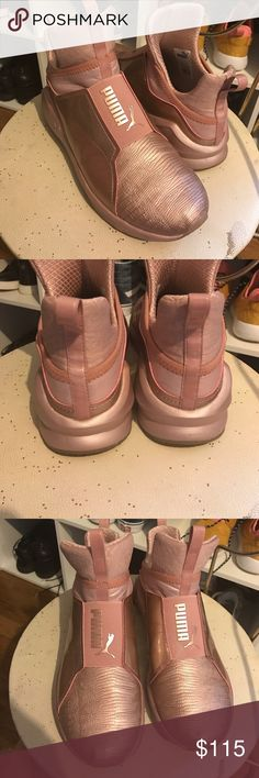Rose Gold (pink) Puma Fierce Sneakers Size 7.5 Only worn a couple of times. Like new. True to size & super comfy! Puma Shoes Sneakers