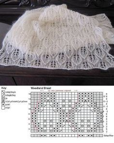 Discover thousands of images about Crochê para iniciante passo a passo - Handarbeit Lace Knitting Stitches, Knitting Basics, Lace Knitting Patterns, Lace Patterns, Stitch Patterns, Knitting Needles, Crochet Lace Scarf, Knitted Shawls, Diy Crafts Knitting