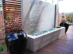 Big and bold water fountain have a profound impact on the space.