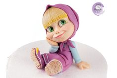 Masha , cake Topper in sugar paste