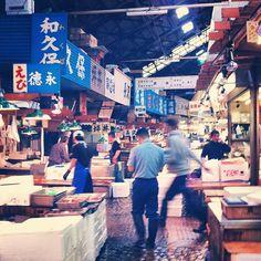 東京都中央卸売市場 築地市場 (Tsukiji Fish Market) in 築地, 東京都