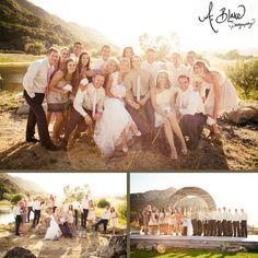Holland Ranch in San Luis Obispo, CA. Ranch Wedding. Wedding party group shots. By photographer Ashley Blake of A. Blake Photography