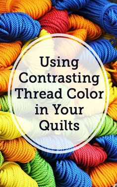 When it comes to quilting, more often than not, the thread color used will match the main background color of a quilt. This is done because quilting is intended to hold the layers of fabric together and help showcase the quilt design. However, Heather shows you that contrasting thread colors can be used to tie a piece together.