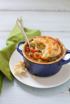 vegetarian pot pie with feta scallion biscuit topping by annieseats, via Flickr