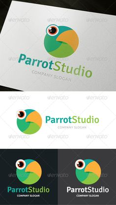 This logo is great; it represents a parrot clearly; the colors and shapes used were smartly combined to give that look.