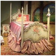 beautiful fairy tale bed for a little girl