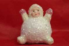 Papier mache snowbaby Original