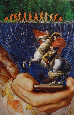 "Saatchi Art Artist Francesco Raffa; Collage, """"Rivoluzione digitale"""" #art"