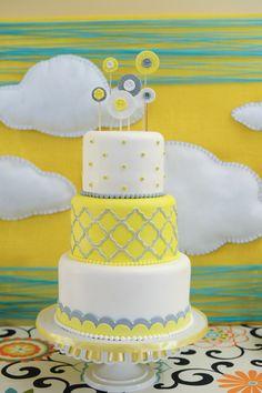 A Cake Life - Hawaii Cake Bakers - Whimsical white, yellow and gray wedding cake Hawaii Wedding Cake, Hawaii Cake, Hawaii Hawaii, Baby Shower Fun, Baby Shower Cakes, Wedding Cake Prices, Wedding Cakes, 70th Birthday Cake, Birthday Ideas