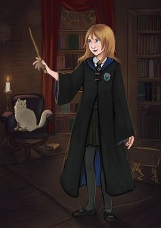Hogwarts student by Cute-Pathi on DeviantArt Harry Potter Oc, Cute Cartoon Pictures, Hogwarts Houses, Dnd Characters, Character Ideas, Ravenclaw, Hermione, Angels, Geek Stuff