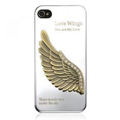 Generic Love Wing Rhinestone Metal Mirror Phone Case For iPhone 4 / 4S Color Silver by ZLYC,     http://www.amazon.com/dp/B00D30TK6O/ref=cm_sw_r_pi_dp_r-h7rb1RQTGCR