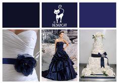 Navy Blue wedding Inspiration Colour Board by Designcat