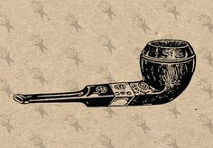 Tobacco Pipe Vintage black and white image Instant Download Digital printable clipart graphic iron on transfer burlap sticker etc HQ300dpi by UnoPrint on Etsy #hq #png #bw #Ephemera #diy #old #book #illustration #gravure #inspiration #retro #antique #vintage #300dpi #craft #draw #drawing  #black #white #printable #crafts #transfer #decor #hand #digital #collage #scrapbooking #quality