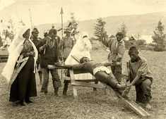 Kamloops,Secwepemc First Nations People Performing a Re-enactment of the Crucification in 1901