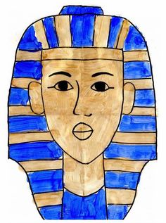 How To Draw King Tut   Art Projects for Kids. Step-by-step tutorial. Save your gold metallic paint for this! #artprojectsforkids #kingtut