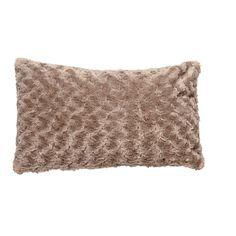 Maison d'Or Cushion Silky Bobble Breakfast Taupe 30cm x 50cm