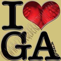 "Forget the peaches - give us the melons. Up close ""I [heart] GA"" actually reads ""I love GA-zongas"". http://www.cafepress.com/thenaughtynook/9991714"