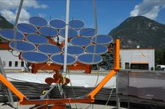 sunflower solar panels provide electricity & heat to remote locations