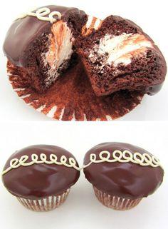 Homemade Hostess Cupcakes   Click Pic for Easy Chocolate Dessert Recipe   Quick and Easy Dessert Recipes for Kids