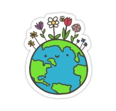 High quality Smiley Face gifts and merchandise. Inspired designs on t-shirts, posters, stickers, home decor, and more by independent artists and designers from around the world. Save Our Earth, Love The Earth, Cartoon Drawings, Cute Drawings, Erde Tattoo, Earth Drawings, Graffiti, Happy Earth, Zuko