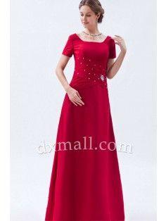 Empire Mother Of The Bride Dresses Square Floor Length Taffeta Taffeta Red 12001030015