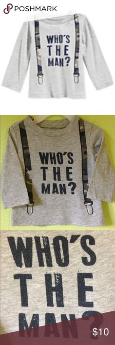 First Impressions Baby Boys' Who's The Man? Tee First Impressions Baby Boys' Who's The Man? T-Shirt, Size 3-6M.                                                                  PLEASE READ ALL BEFORE BUYING  DESCRIPTION COLORS IN PICTURES MAY APPEAR DIFFERENT THAN IN PERSON Please look at all pictures and use the zoom. They are the best way to see details and any wear ALL USED CLOTHING HAVE BEEN WORN AND WASHED THEREFORE WILL HAVE WEAR FROM BOTH First Impressions Shirts & Tops Tees - Long…