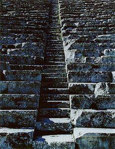 Steps in Theater, Epidaurus, Greece  Elliott Porter Photograph