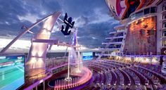 Our favorite place to catch a show. #allureoftheseas