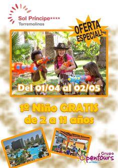   GRUPO OPENTOURS   . Hotel Sol Príncipe **** (Torremolinos, Costa del Sol, Málaga, Andalucía, España) ---- Especial NIÑO GRATIS 2018 ---- 1º Niño de 2 a 11 años GRATIS, del 01 de Abril al 02 de Mayo ---- Resto condiciones de esta oferta en www.opentours.es ---- Información y Reservas en tu - Agencia de Viajes Minorista - ---- #solprincipe #hotelsolprincipe #niñosgratis #torremolinos #malaga #costadelsol #andalucia  #verano2018 #escapadas #reservas #hoteles #vacaciones #estancias #ofertas…