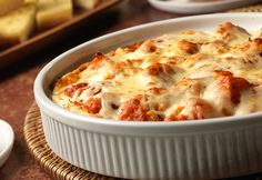 Grab a breadstick and dig into this yummy dip that has all the flavor of Chicken Parm without all the work. 20 minutes in the oven is all it takes to serve this impressive appetizer to all your friends.