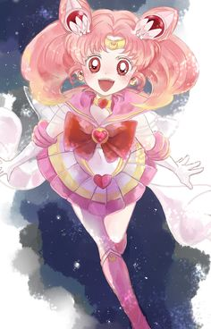 Sailor Chibi Moon fanart by 山口もここ
