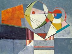 Werner Drewes (1899-1985) Abstract Composition 1944 Oil on canvas, found at hollistaggart.com