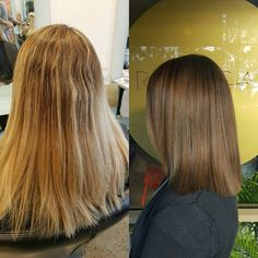 #beforeandafter - naturalising colour takes time, brains & effort. Let your stylist take the lead and present you with options as it's our job as the professionals to help give you the best advice. In this case, naturalising of colour was needed to create an even and harmonious hair canvas. Also a decent hair cut to revitalise the overall new look 😁  @wellapro @lovekevinmurphy   #theradicalhairdesign #hairbyemmaobrien
