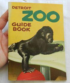 Vintage 1956 Detroit Zoo Belle Isle Guide Book Tourist Travel Souvenir Animals | eBay
