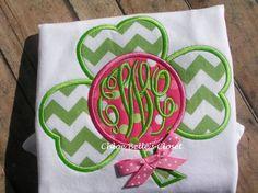 Shamrock Monogram  Shirt by juliesonny on Etsy