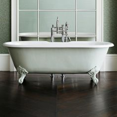 Traditional free standing baths - I'm painting mine Hague Blue with white feet!
