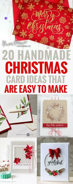 Handmade Christmas Cards Ideas That Are Easy to Make DIY Winter Holiday Spirit Paper Craft Greeting Elegant