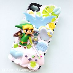 Custom Legend of Zelda Kawaii Decoden Phone Case for Iphone 4/4s, 5, Samsung Galaxy S2, S3, S4 or Ipod Touch, HTC One X