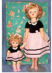 Mom and Daughter 1950's - made by Jolly - 'The Doll of Distinction'