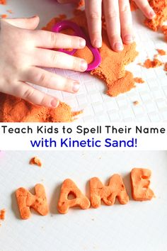 Teach Kids to Spell Their Name with Kinetic Sand