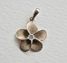 Daisy Charm Pendant Sterling Silver Flower Jewelry Rhinestone Flower Necklace Summertime Jewelry Charm Bracelet Sterling Charm by TheJewelryChain on Etsy