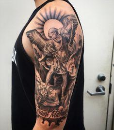 San Miguel Arcangel Tattoo Bae Tattoos San Miguel Tatting