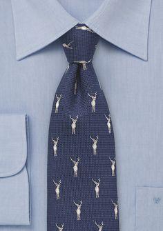 Classic Mens Ties Neckties Navy Blue Animal Penguin Tie Pocket Square Wedding