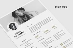Blog Media Kit Template - 2 Page by Elissa Bernandes on @creativemarket