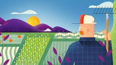 Allen Laseter – The good folks at Wonderlust and Anchorpoint asked me to Art Direct and animate this piece for a small organic foods brand called Green Valley. This is what we came up with.  I storyboarded, illustrated and animated. Design 3D, Motion Graphic Design, Video Art and Cinema Graphic Design