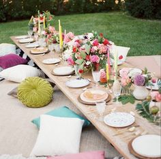 Lovely tables scape