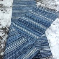 Household Organization, Rag Rugs, Recycle Jeans, Striped Rug, Cotton Rugs, Weaving, Blue Rugs, Carpet, Motivation